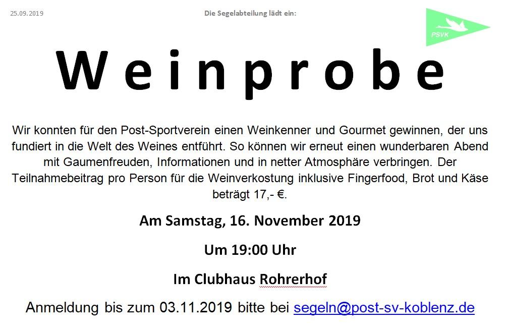 Weinprobe 2019