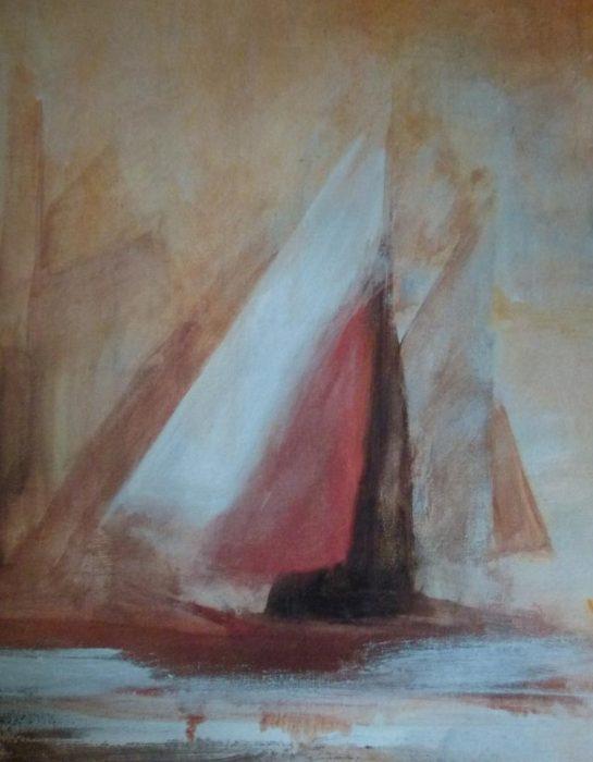 Hüthwohl Segelboot Gemälde (1 2)